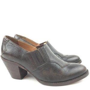 5/48 Ankle Boots 37.5 7 Leather Stacked Western